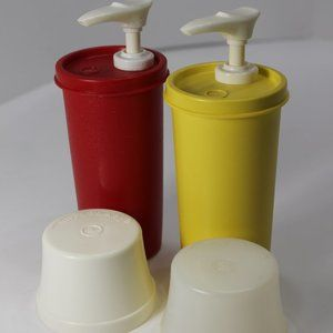 Tupperware Ketchup and Mustard Dispensers